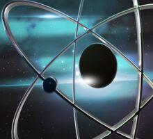 Metallic atom in space  Sticker