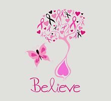 Believe - Breast Cancer Survivor Womens Fitted T-Shirt