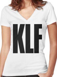 KLF Logo (Black) Women's Fitted V-Neck T-Shirt