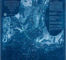 Civil War Maps 1182 New Haven Harbor Inverted by wetdryvac