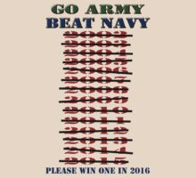 Go Army - Beat Navy - Please win one in 2016 by Buckwhite