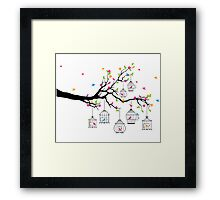 cute birds #3 Framed Print