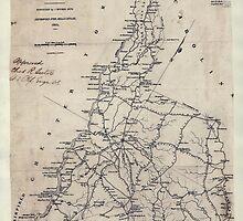 Civil War Maps 0548 Lancaster District South Carolina by wetdryvac
