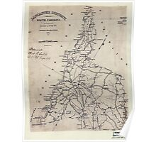 Civil War Maps 0548 Lancaster District South Carolina Poster