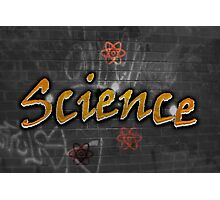 Science Graffiti on a wall  Photographic Print