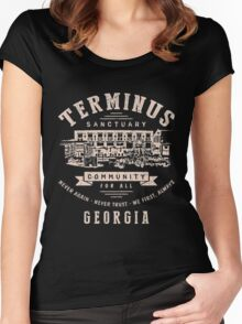 Terminus The Walking Dead Women's Fitted Scoop T-Shirt