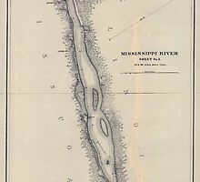 Civil War Maps 1166 Mississippi River from Cairo Ill to St Marys Mo in VI sheets 05 by wetdryvac