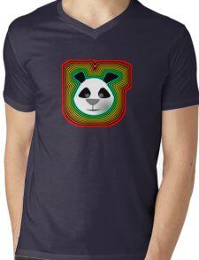 Funky Panda Mens V-Neck T-Shirt