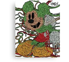 Melted Mickey (Neon Green) Canvas Print