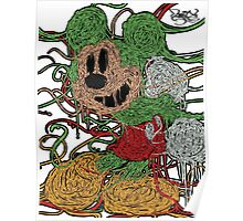Melted Mickey (Neon Green) Poster
