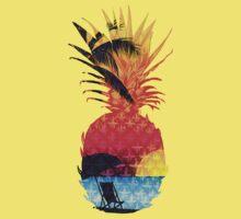 Pineapple Summer Beach Kids Tee