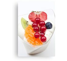 rice pudding from fruit Canvas Print