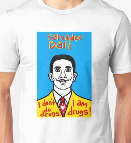 Salvador Dali Pop Folk Art Unisex T-Shirt