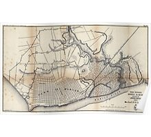 Civil War Maps 1500 Rebel defences Mobile Alabama occupied by Union forces under Maj Gen ERS Canby comdg Poster