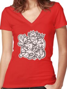 Doodle Women's Fitted V-Neck T-Shirt