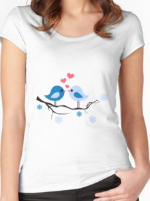 cute birds #8 Women's Fitted Scoop T-Shirt