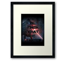 Kylo Ren - Star Wars ( The force awakens) Episode VII Framed Print