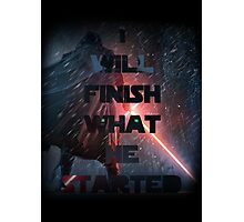 Kylo Ren - Star Wars ( The force awakens) Episode VII Photographic Print