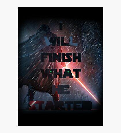 Kylo Ren - Star Wars ( The force awakens) Episode VII Photographic Print