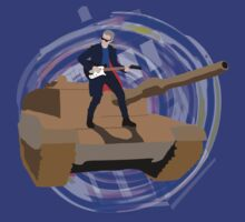 Doctor Who Riding a Tank and Playing Guitar by littlemarin
