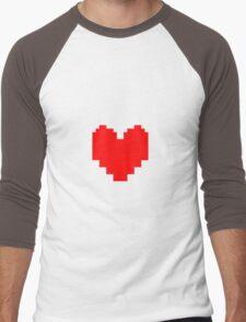 Undertale - Red Soul Men's Baseball ¾ T-Shirt