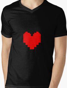 Undertale - Red Soul Mens V-Neck T-Shirt