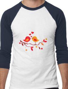 cute birds #10 Men's Baseball ¾ T-Shirt