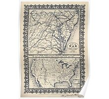 Civil War Maps 1569 Seat of war Poster