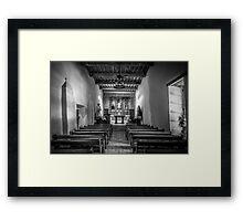 Mission San Juan Capistrano Texas BW Framed Print
