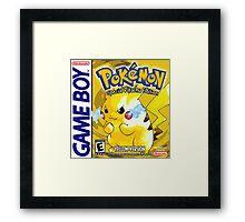 Pokemon Yellow Framed Print