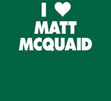 I LOVE MATT MCQUAID Michigan State Spartans Basketball Womens Fitted T-Shirt