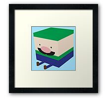 Green Blockio Framed Print