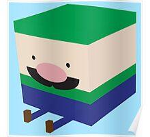 Green Blockio Poster