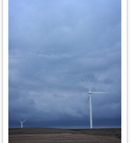 Cloudy Wind Turbines #1 Sticker