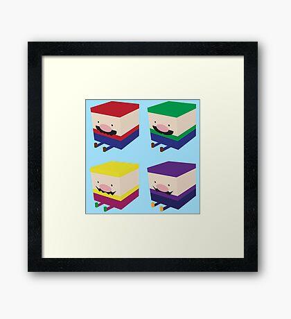 Blockios Framed Print