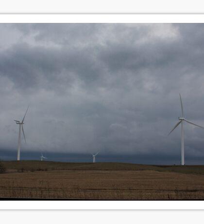 Cloudy Wind Turbines #2 Sticker