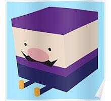 Purple Blockio Poster