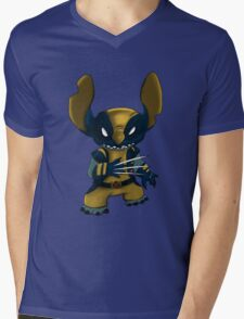 Stitch Wolverine Mens V-Neck T-Shirt