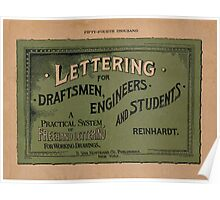 Lettering for Draftsmen, Engineers and Students, 1920 Poster