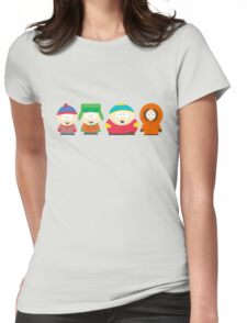 South Park Characters Womens Fitted T-Shirt