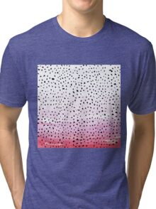 Artistic Abstract Triangles on Pink Watercolor Tri-blend T-Shirt