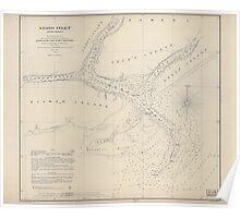 Civil War Maps 1707 Stono Inlet South Carolina Poster