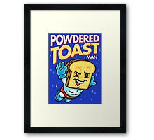 Super Toast Man Framed Print