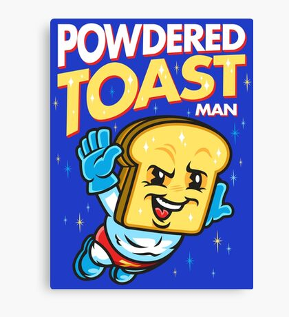 Super Toast Man Canvas Print