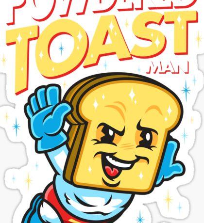 Super Toast Man Sticker