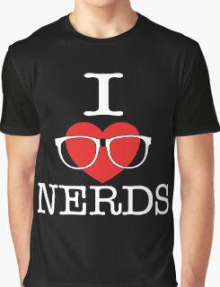 I Love Nerds Graphic T-Shirt