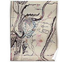 Civil War Maps 0266 Chattanooga Tenn 1863 Poster