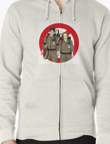 Ghostbusters Files - Mulder & Scully Zipped Hoodie