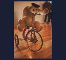 0058 Bear on a Bike Kids Tee