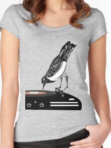 DJ magpie Women's Fitted Scoop T-Shirt